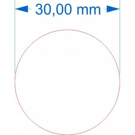 Aimant rond diamètre 30mm adhésif
