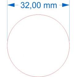 Aimant rond diamètre 32mm adhésif