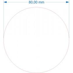 Aimant rond diamètre 80mm adhésif