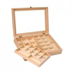Boîte à bijoux 40x28x7,5cm, FSC