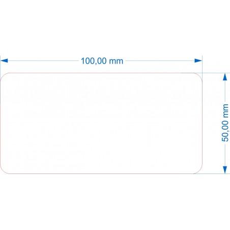 Socle 100x50mm transparent arrondi