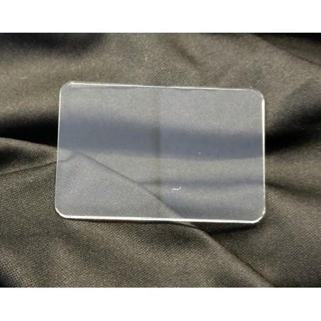 Socle 75x50mm transparent arrondi