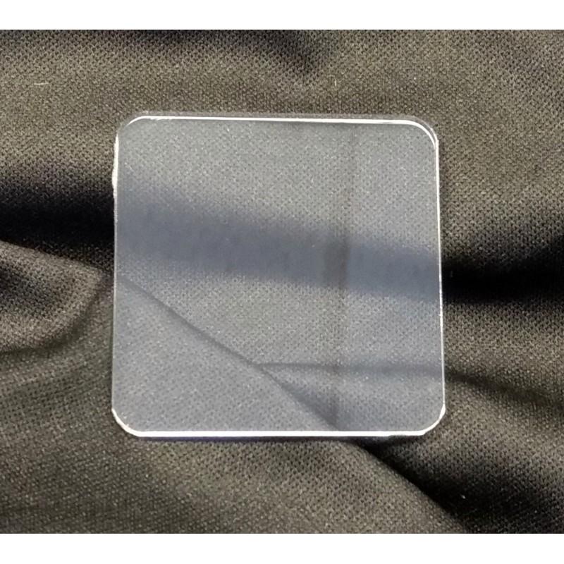 Socle 50x50mm transparent arrondi