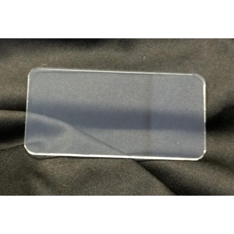Socle 80x40mm transparent arrondi